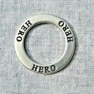 Hero Open Circle Sterling Silver Pendant